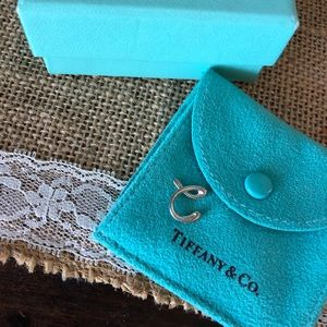 "Tiffany & Co. letter ""C"" pendant. Charm only & box"